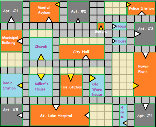 A map of Owl Creek City